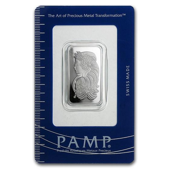 20 gram Platinum Bar - PAMP Suisse (In Assay)