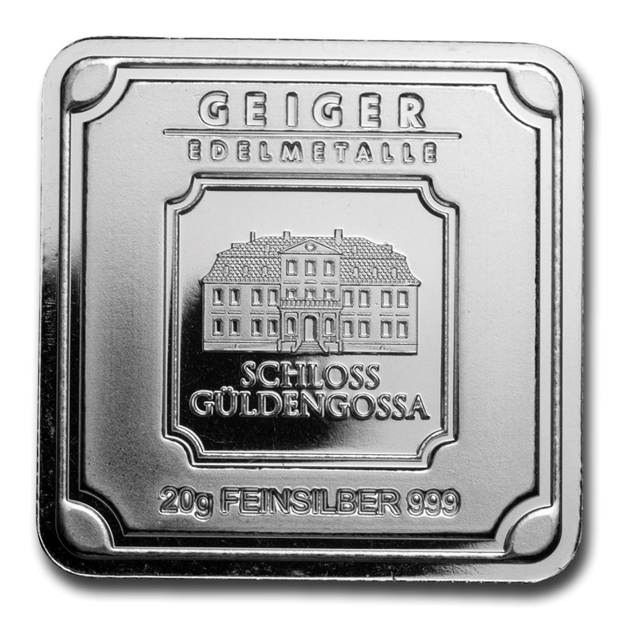 20 gram Silver Bar - Geiger Edelmetalle (Original Square Series)