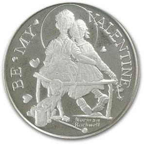 20 gram Silver Round - Norman Rockwell (Be My Valentine)