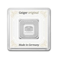 20 gram Silver Square - Geiger Edelmetalle (Encapsulated w/Assay)