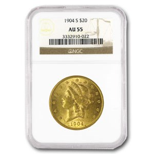 $20 Liberty Gold Double Eagle AU-55 NGC