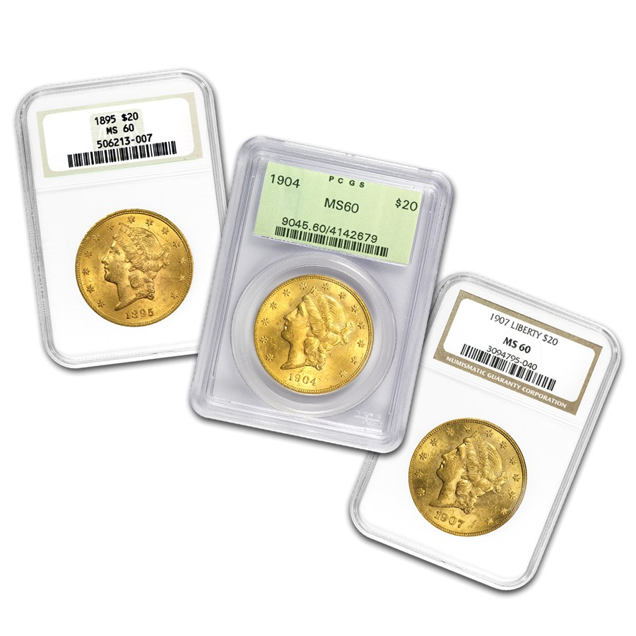 $20 Liberty Gold Double Eagle MS-60 PCGS/NGC (Random)