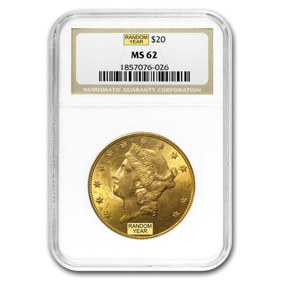 $20 Liberty Gold Double Eagle MS-62 NGC (Random)