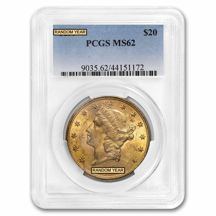 $20 Liberty Gold Double Eagle MS-62 PCGS (Pre-1900)