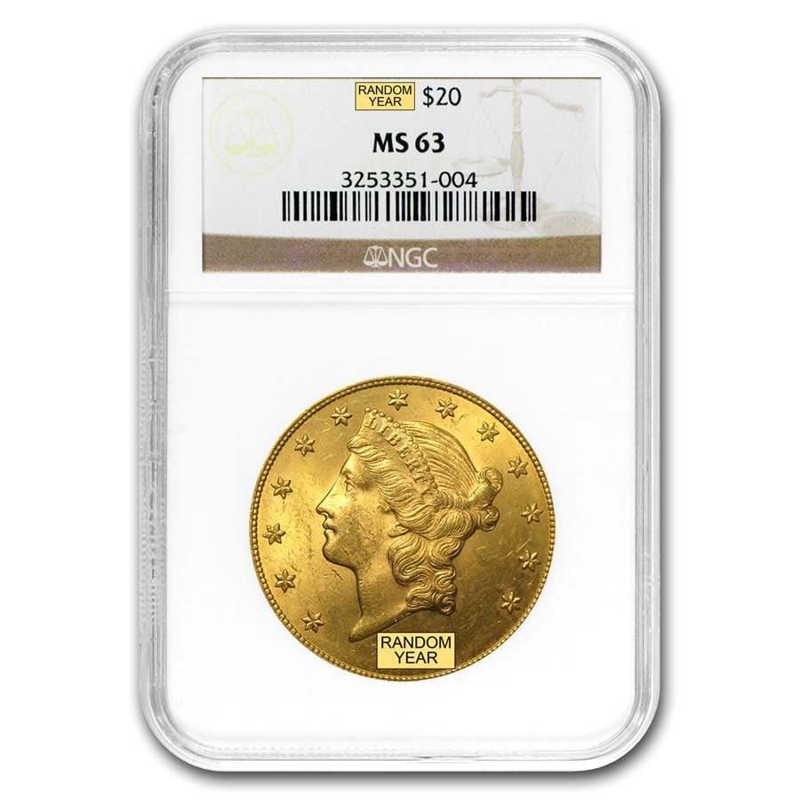 $20 Liberty Gold Double Eagle MS-63 NGC (Random)