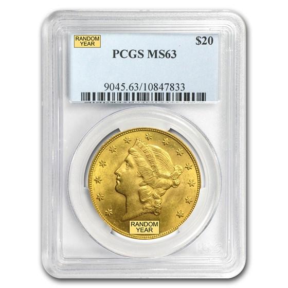 $20 Liberty Gold Double Eagle MS-63 PCGS (Random)