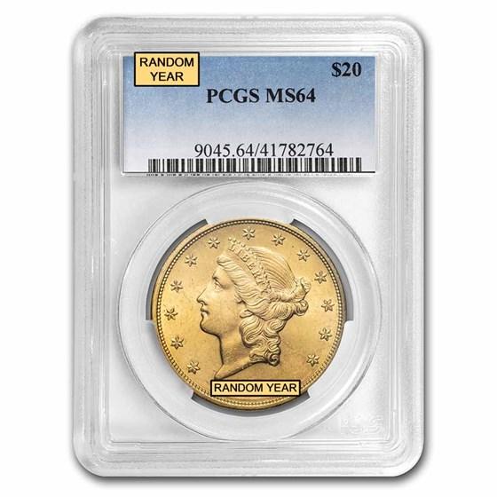 $20 Liberty Gold Double Eagle MS-64 PCGS (Random)