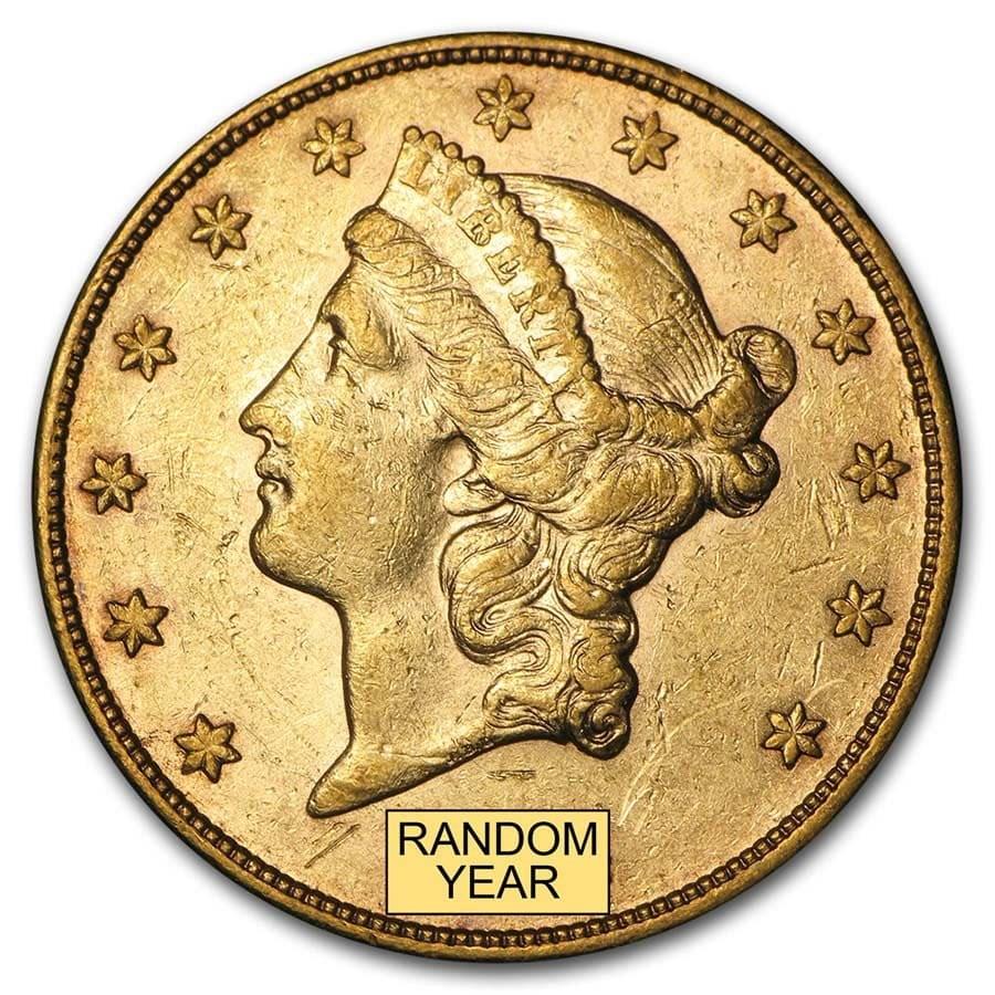 $20 Liberty Gold Double Eagle XF (Random Year)