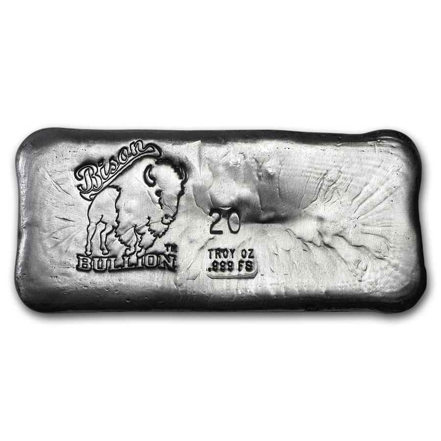 20 oz Hand Poured Silver Bar - BB