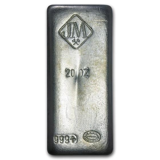 20 oz Silver Bar - Johnson Matthey (Canada, Vintage)