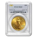 $20 Saint-Gaudens Gold Dble Eagle Mint State-65 PCGS (Random)