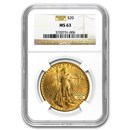 $20 Saint-Gaudens Gold Double Eagle MS-63 NGC (Random)