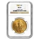 $20 Saint-Gaudens Gold Double Eagle MS-63 NGC (Random)