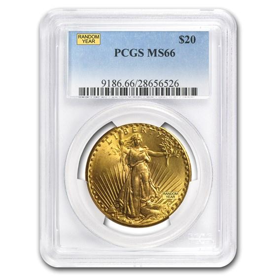 $20 Saint-Gaudens Gold Double Eagle MS-66 PCGS (Random)
