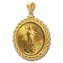 $20 Saint-Gaudens Gold Double Eagle Pendant (Rope-ScrewTop Bezel)