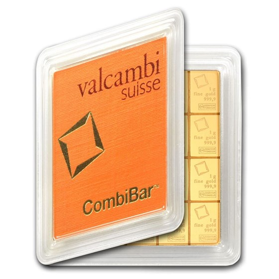 20 x 1 gram Gold Valcambi CombiBar™ (In Assay)