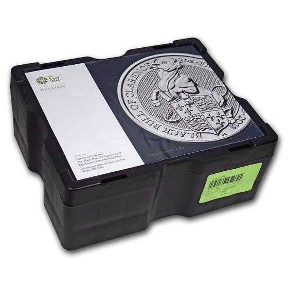 200-Coin 2 oz Silver Bull Monster Box (Empty, Black)