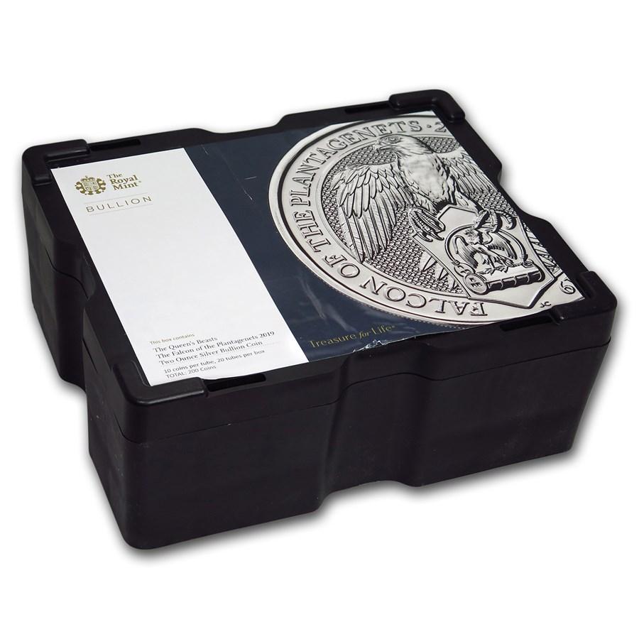 200-Coin 2 oz Silver Falcon Monster Box (Empty, Black)