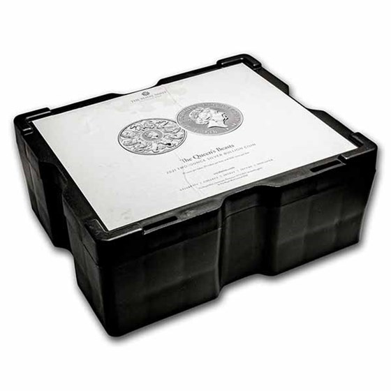 200-Coin 2 oz Silver Queen's Beasts Collector Monster Box (Empty)