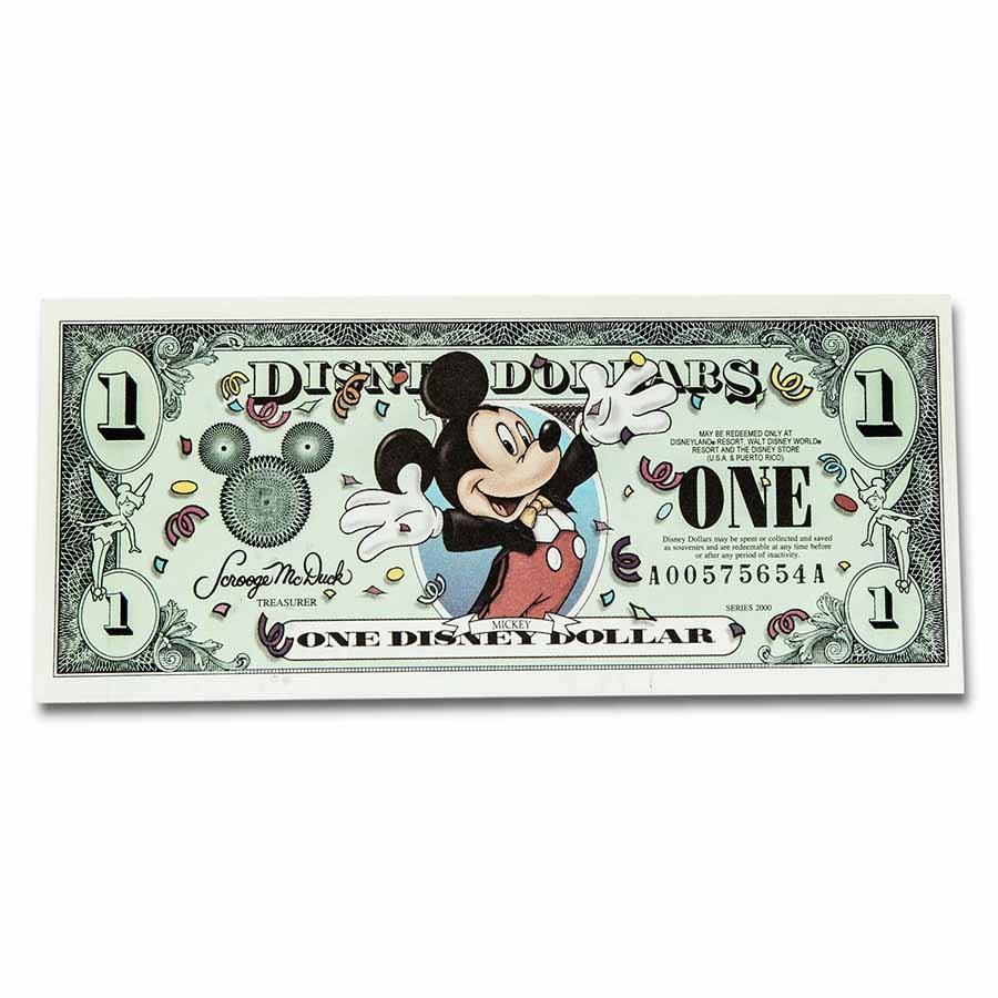 2000 $1.00 Disney Epcot Mickey Mouse AU