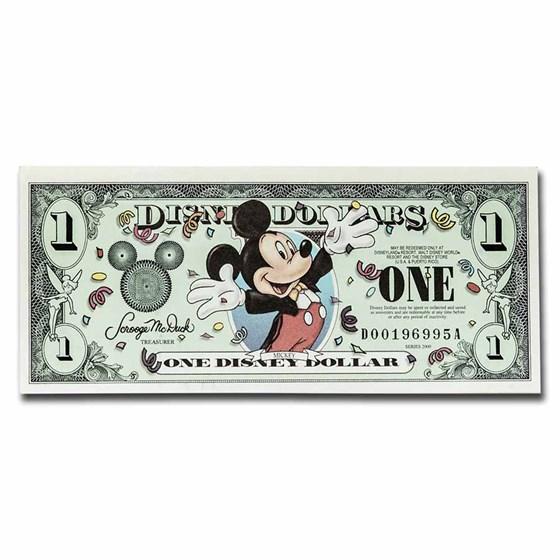 2000 $1.00 Disney Epcot Mickey Mouse CCU