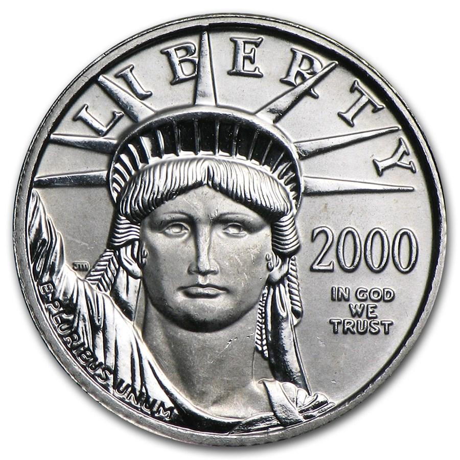 2000 1/10 oz American Platinum Eagle BU