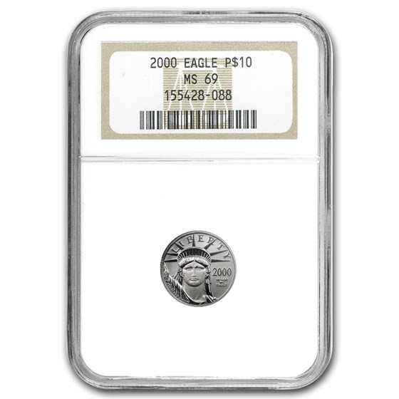2000 1/10 oz American Platinum Eagle MS-69 NGC