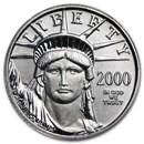 2000 1/10 oz Platinum American Eagle BU