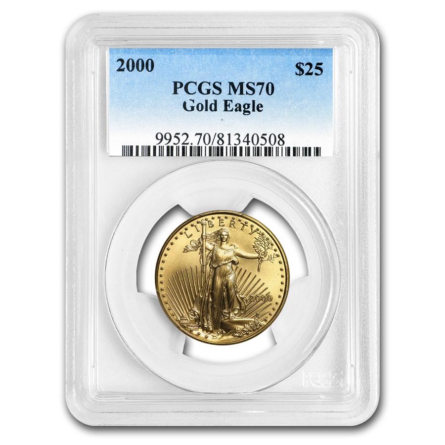 2000 1/2 oz American Gold Eagle MS-70 PCGS