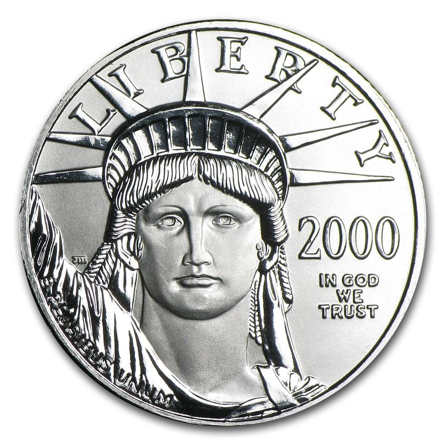 2000 1/2 oz American Platinum Eagle BU