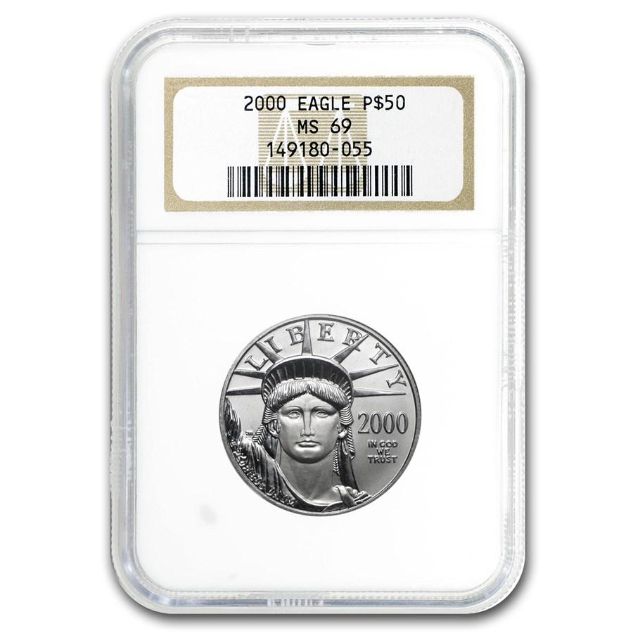 2000 1/2 oz American Platinum Eagle MS-69 NGC