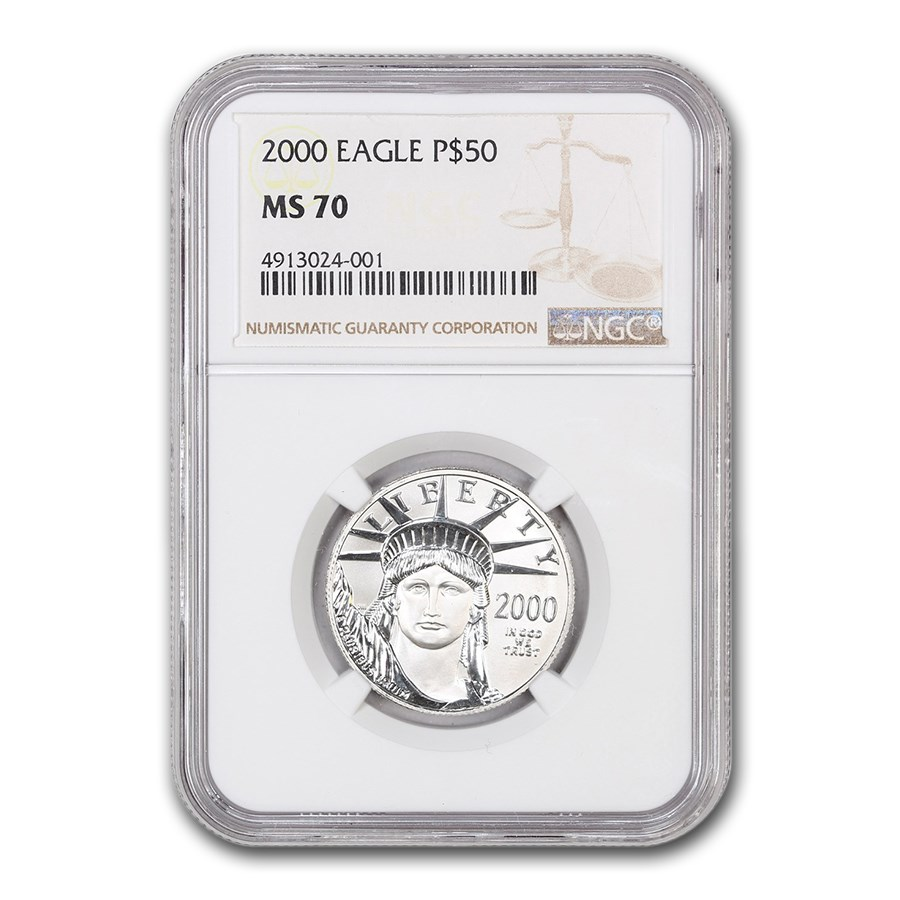 2000 1/2 oz American Platinum Eagle MS-70 NGC