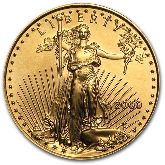 2000 1/4 oz American Gold Eagle BU