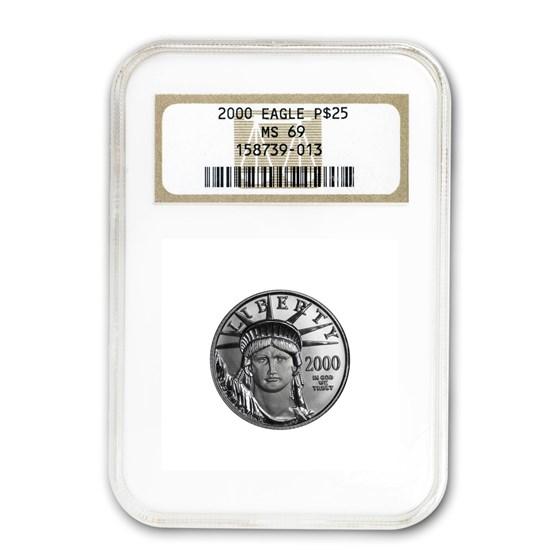 2000 1/4 oz American Platinum Eagle MS-69 NGC