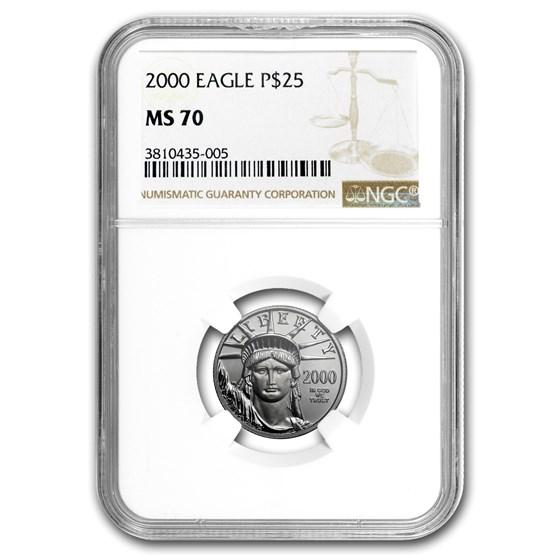 2000 1/4 oz American Platinum Eagle MS-70 NGC