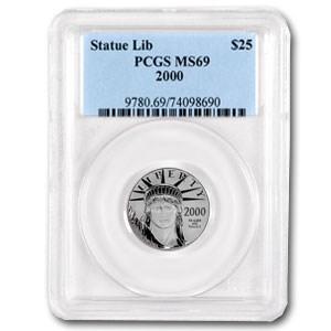 2000 1/4 oz Platinum American Eagle MS-69 PCGS