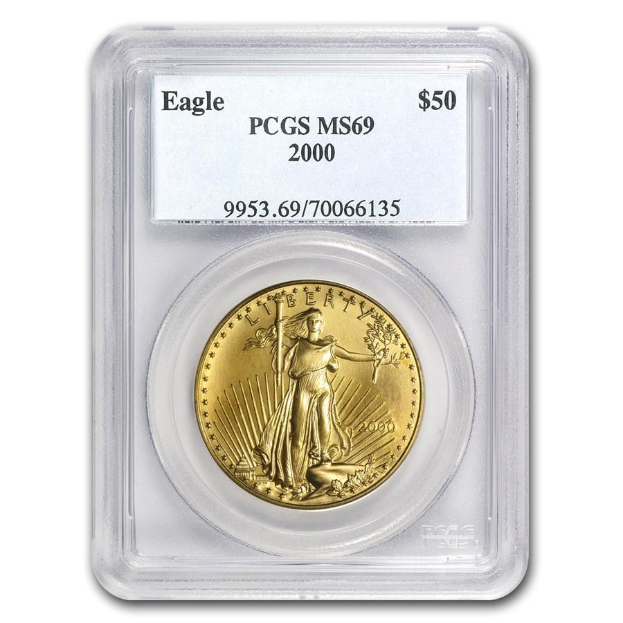 2000 1 oz American Gold Eagle MS-69 PCGS