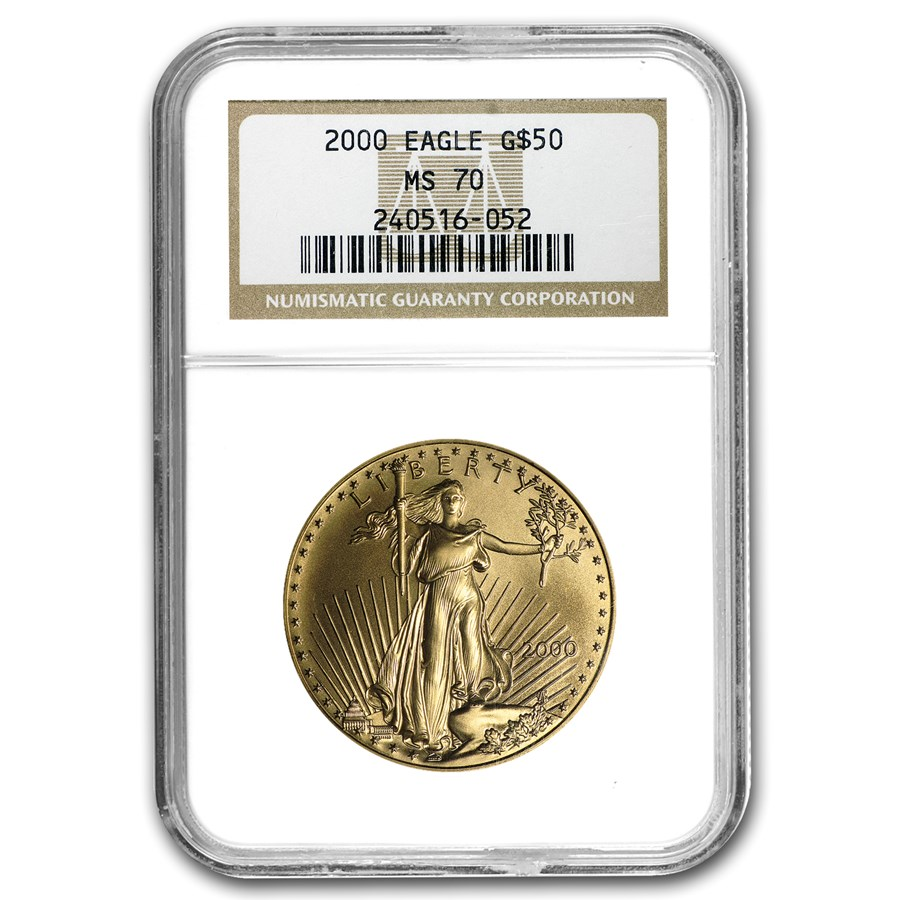 2000 1 oz American Gold Eagle MS-70 NGC