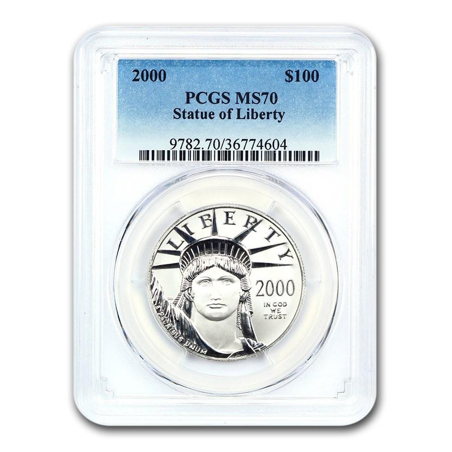 2000 1 oz American Platinum Eagle MS-70 PCGS