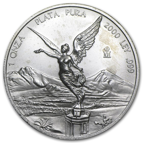 2000 1 oz Silver Mexican Libertad (Abrasions)