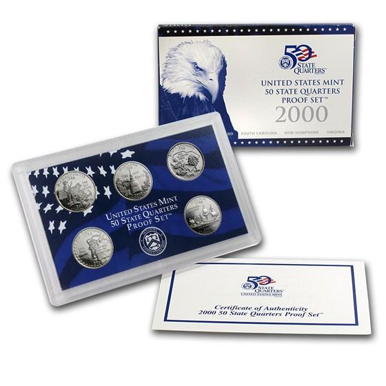2000 50 State Quarters Proof Set