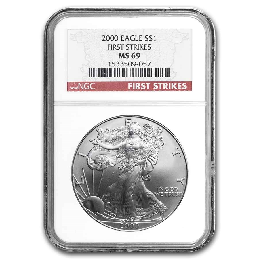 2000 American Silver Eagle MS-69 NGC (First Strikes)