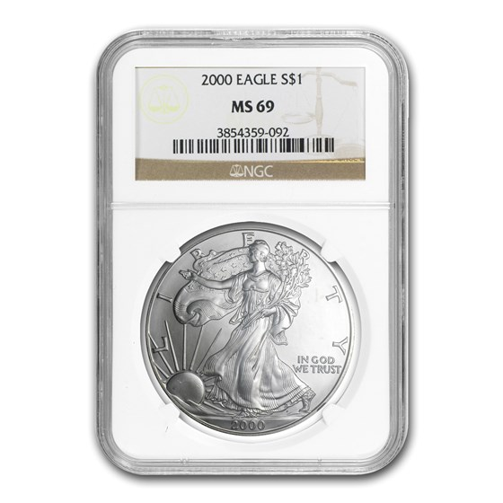 2000 American Silver Eagle MS-69 NGC