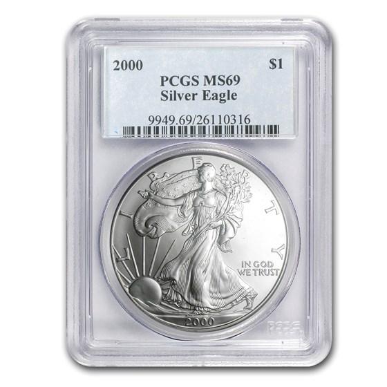 2000 American Silver Eagle MS-69 PCGS