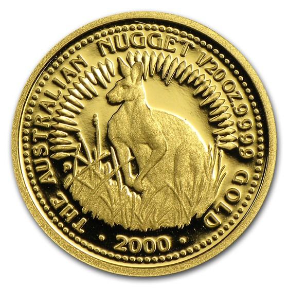 2000 Australia 1/20 oz Proof Gold Nugget