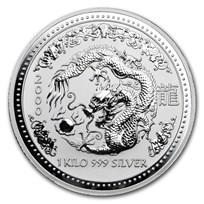 2000 Australia 1 kilo Silver Year of the Dragon BU
