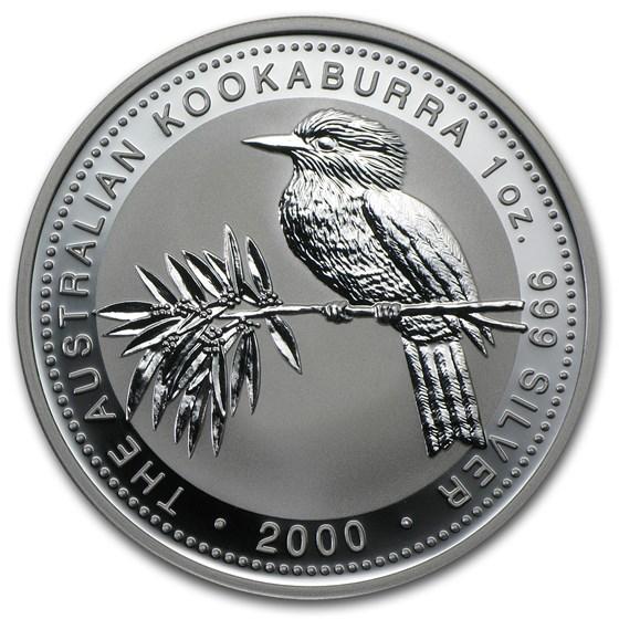 2000 Australia 1 oz Silver Kookaburra BU