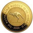 2000 Australia 10 oz Gold Nugget BU