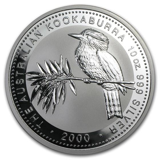 2000 Australia 10 oz Silver Kookaburra BU