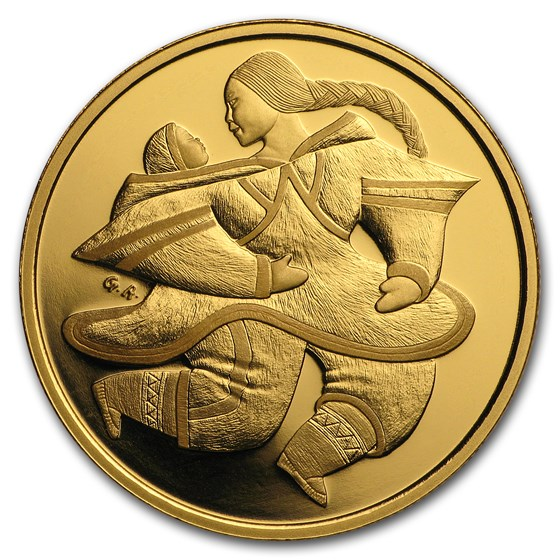 2000 Canada 1/2 oz Proof Gold $200 Motherhood